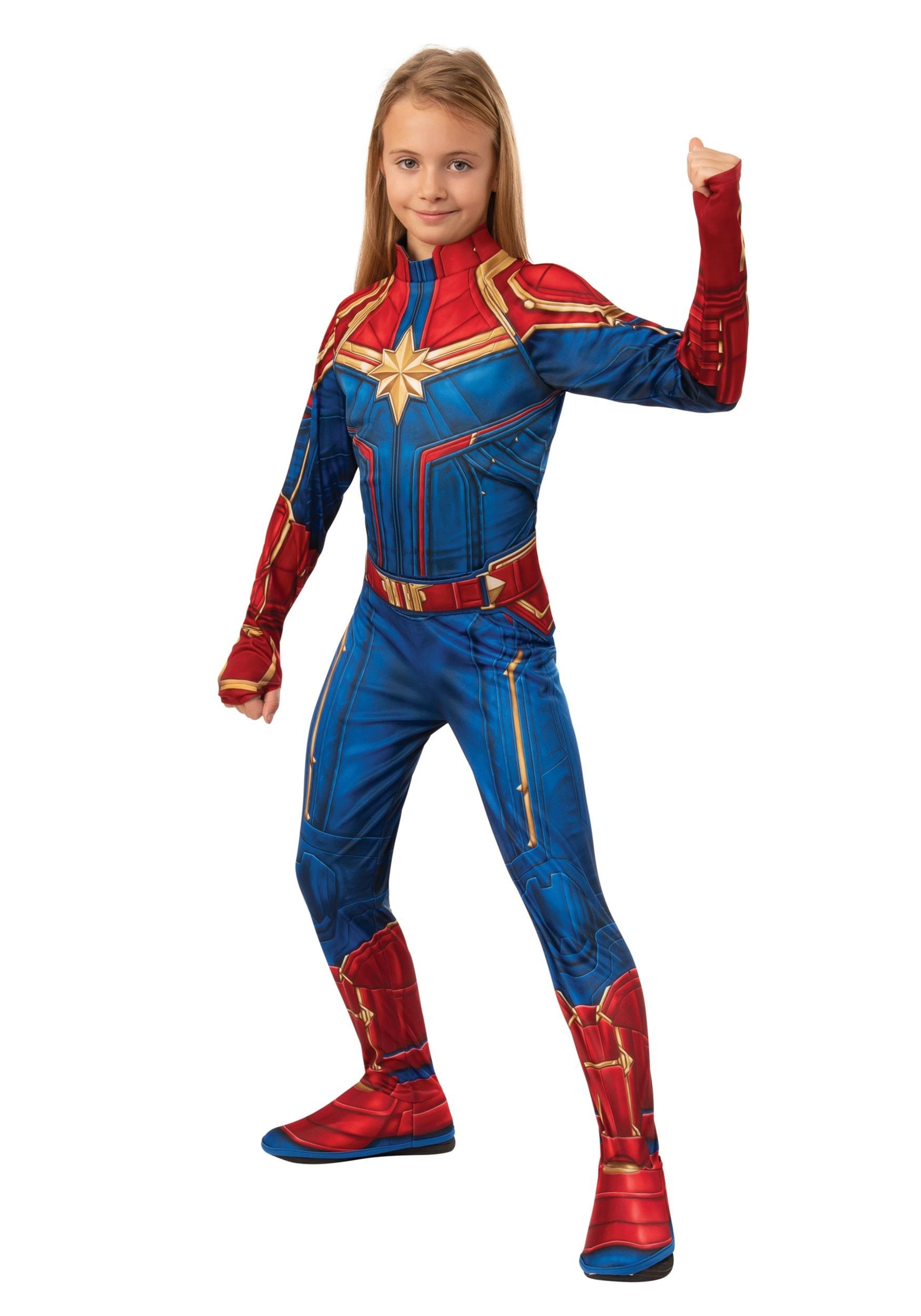 Girl S Captain Marvel Classic Costume Related:captain marvel cosplay captain marvel costume women captain america costume. captain marvel girls classic costume