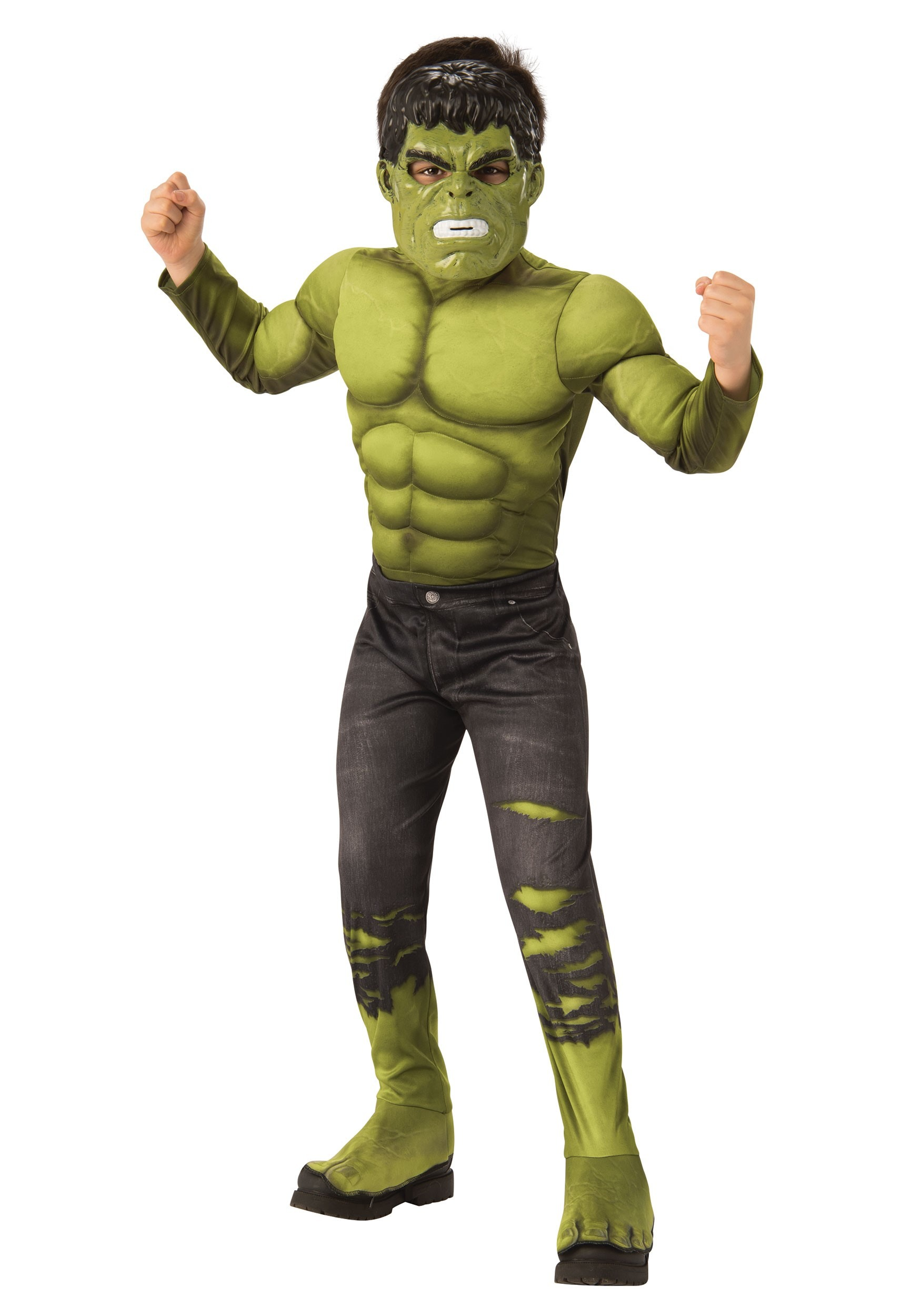MEDIUM GREEN WITH GLOVES BOY/'S RUBIE/'S NEW DELUXE INCREDIBLE HULK COSTUME