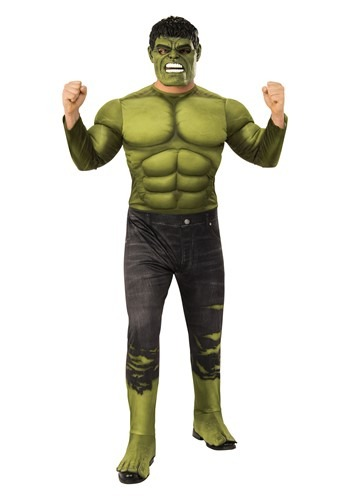 Avengers Endgame Adult Incredible Hulk Deluxe Cost