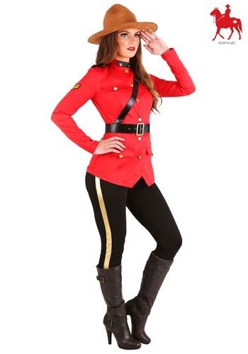 Women's Canadian Mountie Costume Logo Update