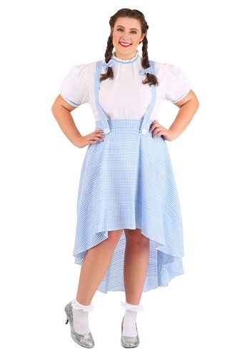 Plus Size Womens Kansas Girl High Low Costume
