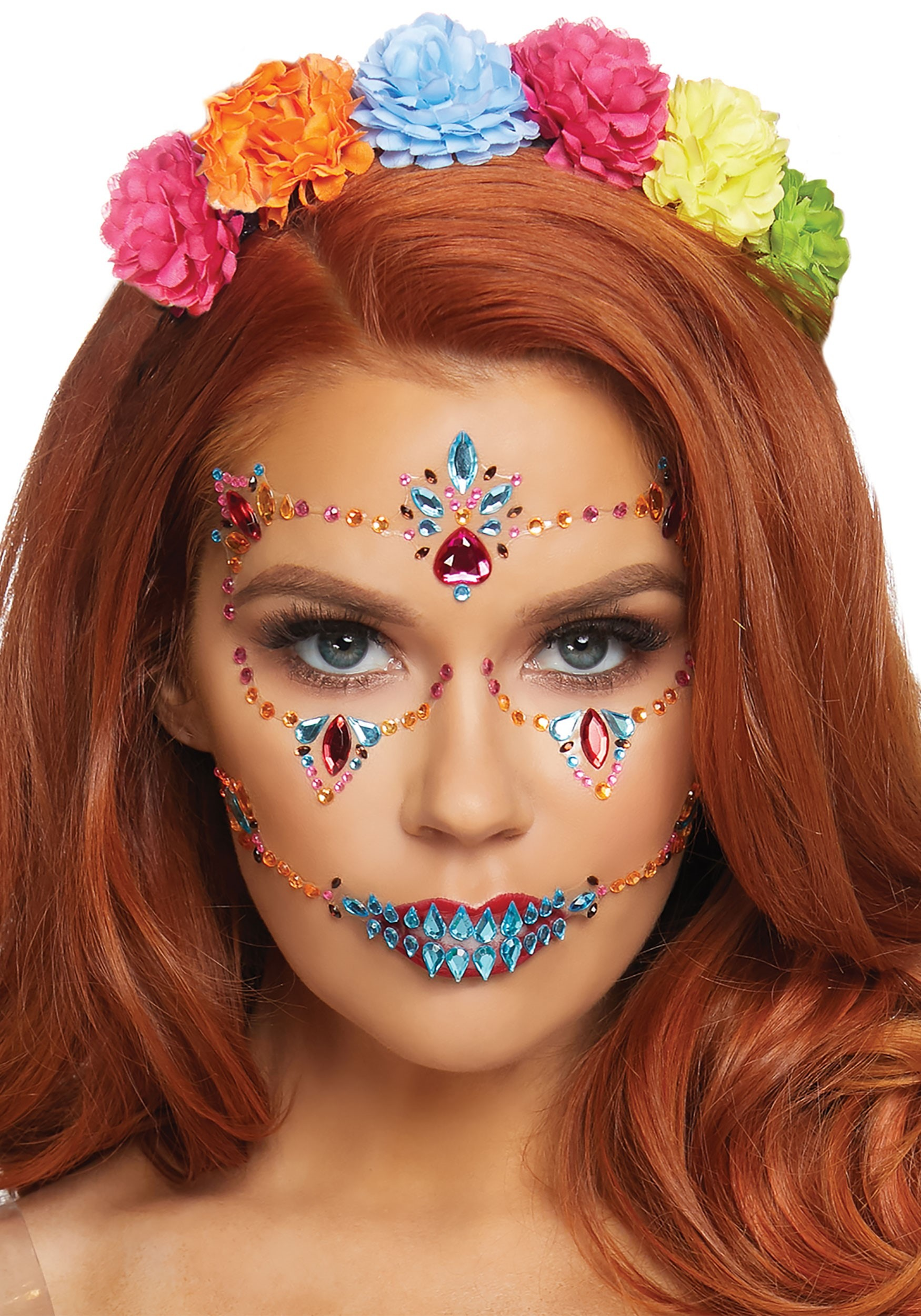 3dbce2656 Face Jewels for Day of The Dead