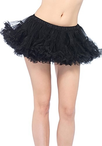 Puffy Black Chiffon Petticoat Womens