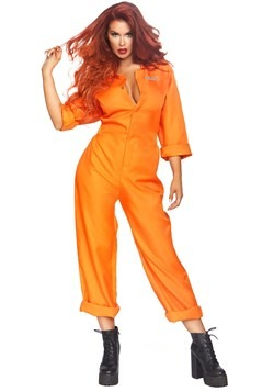 Womens Orange Prison Jumpsuit Costume