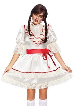 Womens Haunted Doll Dress Costume
