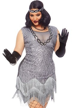Womens Plus Roaring Roxy Flapper Costume