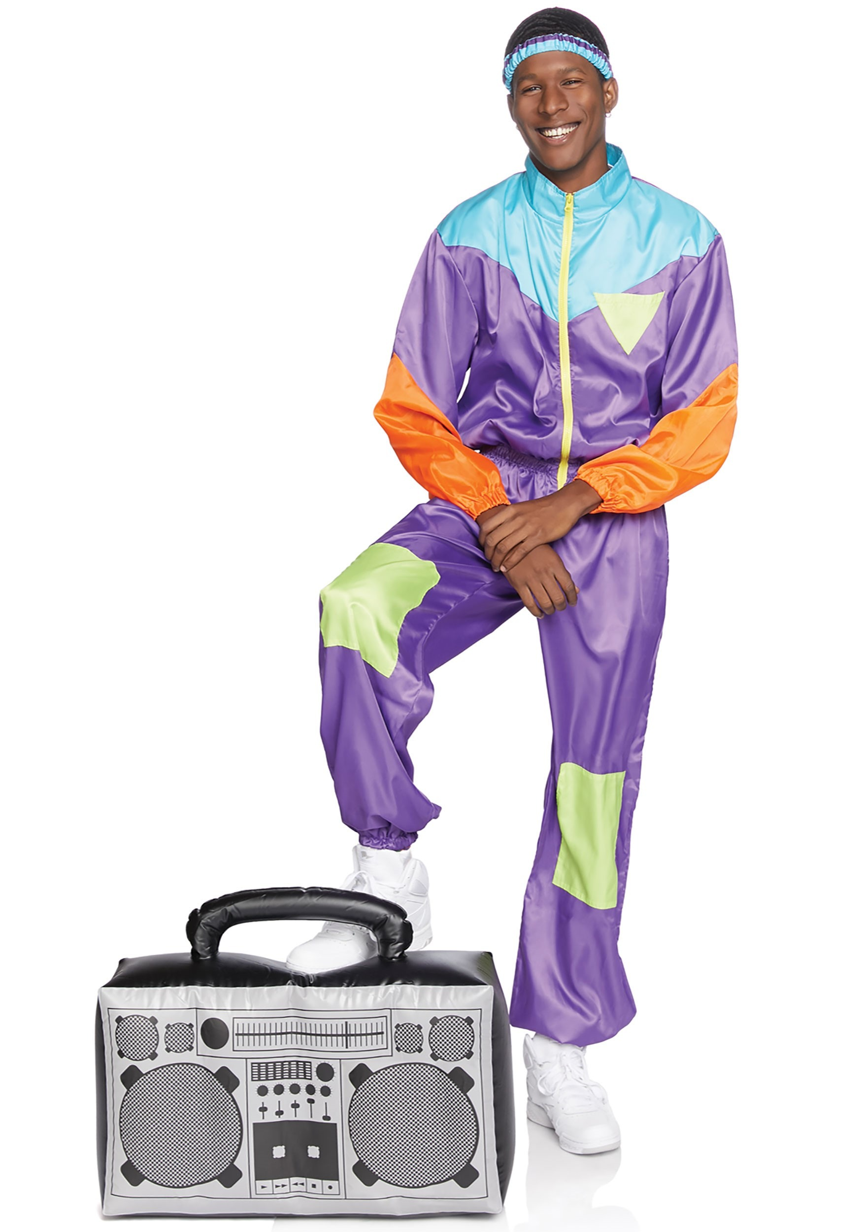 Men's Awesome 80s Track Suit Costume