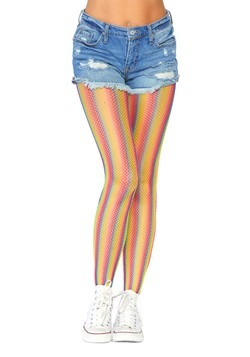 Women's Rainbow Striped Tights