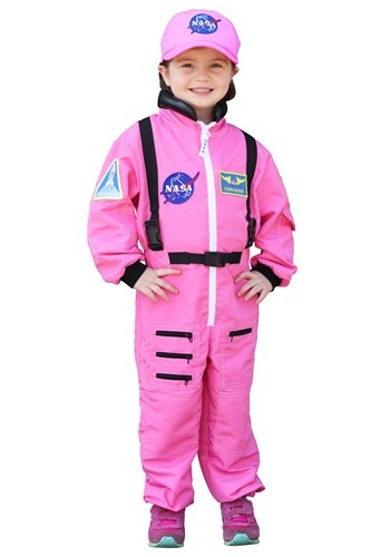 Click Here to buy Pink Astronaut Girls Costume from HalloweenCostumes, CDN Funds