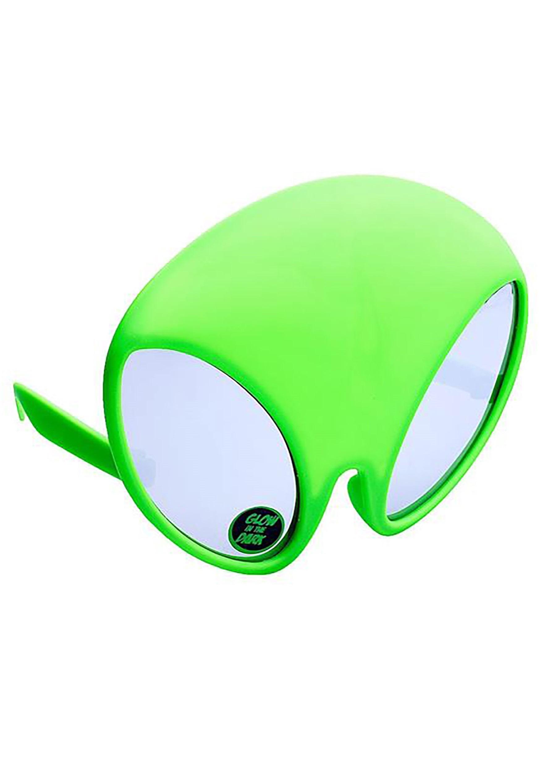 7ac9eb1e4c9 Green Alien Sunstaches Sunglasses
