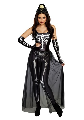 Click Here to buy Bare Bone Babe Skeleton Womens Costume from HalloweenCostumes, CDN Funds