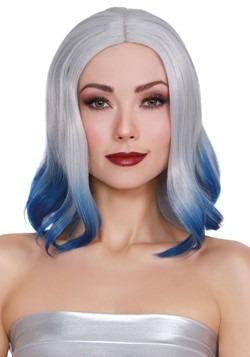 Grey/Blue Dip Dye Wig