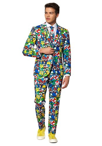 Mens Opposuit Super Mario Suit