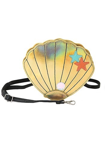 Swimming through the ocean you are sure to find some amazing treasures! Keep them safe with this Deluxe Mermaid Shell Purse! #purse