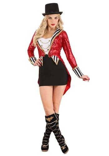 Womens Sexy Sequin Ringmaster Costume