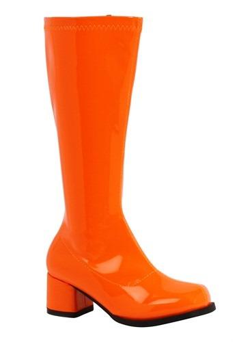 Girl's Orange Gogo Boots