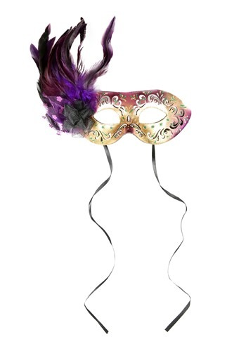 Click Here to buy Feather Mardi Gras Mask from HalloweenCostumes, CDN Funds