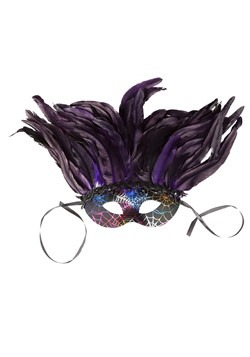Deluxe Feather Mardi Gras Mask