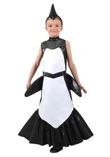 Girls Orca Mermaid Costume