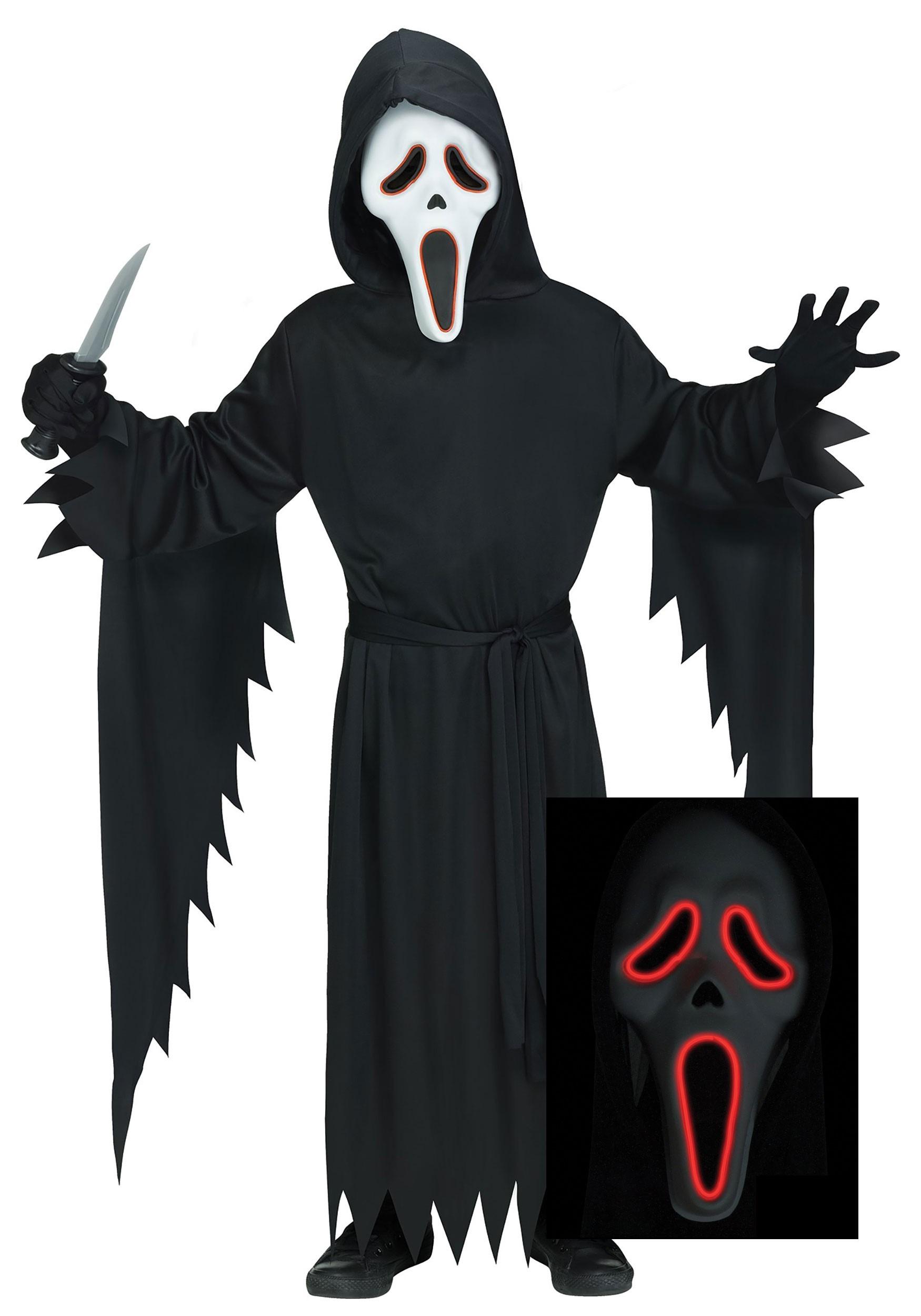 Kids E.L Ghost Face Scream Costume