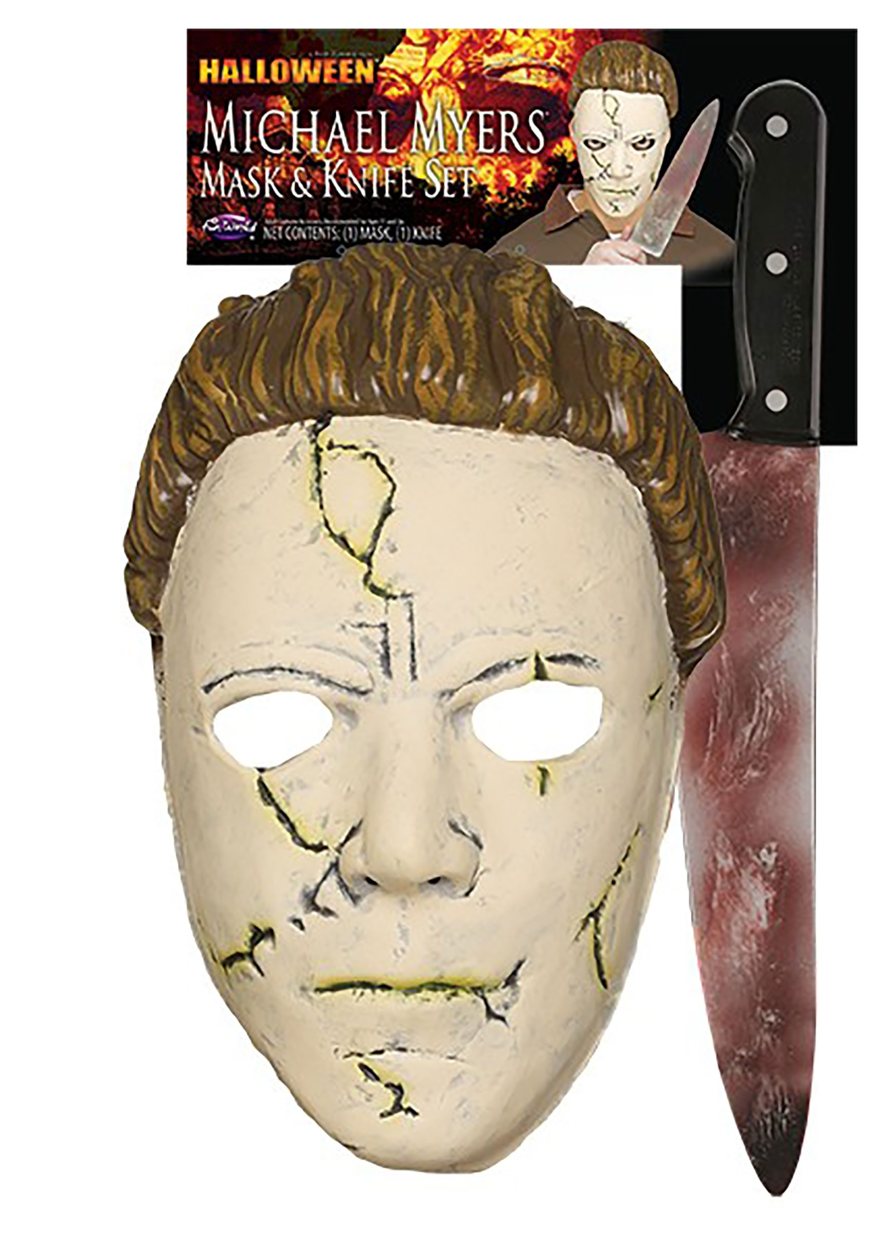 Halloween Rob Zombie Michael Myers Mask Vs Halloween 2020 Michael Myers Mask Michael Myers Halloween (Rob Zombie) Resilient Mask and Knife