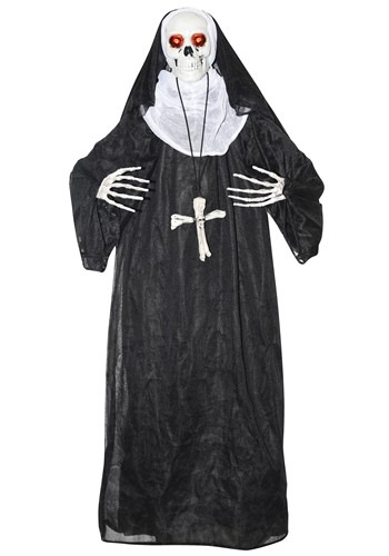 Click Here to buy Animated Nun Prop Halloween Decoration from HalloweenCostumes, CDN Funds