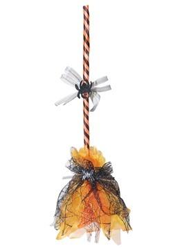 Orange Animated Shaking Broom