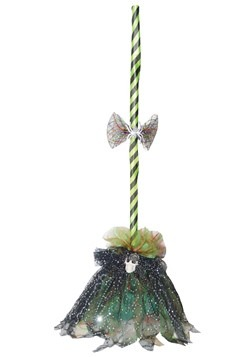 Green Animated Shaking Broom