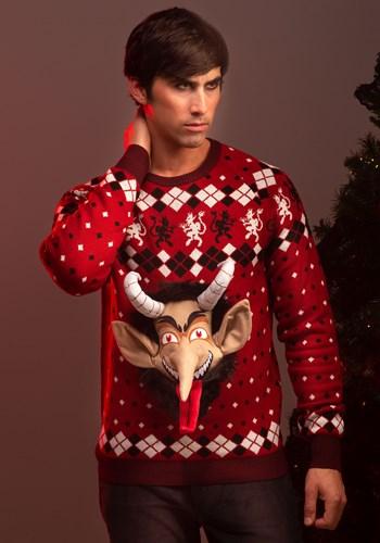 Adult 3D Krampus Head Unisex Ugly Christmas Sweater update1