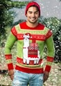 Adult Christmas Llama Unizex Ugly Sweater alt1