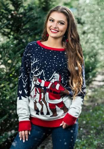 Adult Santa & Reindeer Unisex Ugly Christmas Sweater update