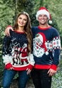 Adult Santa & Reindeer Unisex Ugly Christmas Sweater alt2