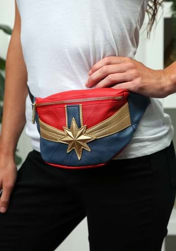 Loungefly Captain Marvel Faux Leather Fanny Pack HC