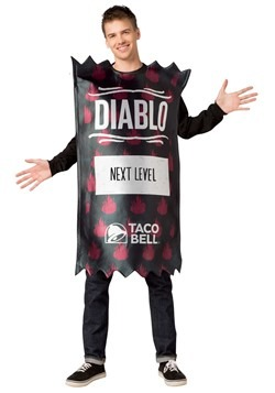 Taco Bell Adult Diabo Taco Bell Sauce Packet Costu