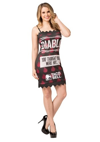Taco Bell Womens Diablo Taco Bell Sauce Packet Costume