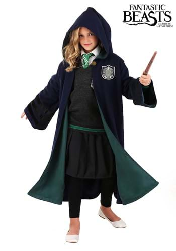 Click Here to buy Kids Harry Potter Hogwarts Slytherin Robe from HalloweenCostumes, CDN Funds