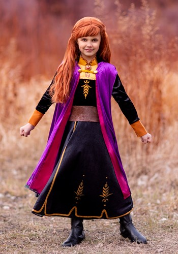 Deluxe Frozen 2 Girls Anna Costume