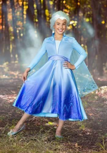 Frozen 2 Girls Elsa Deluxe Costume