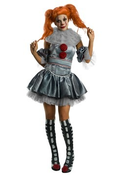 IT Deluxe Womens Pennywise Dress Costume