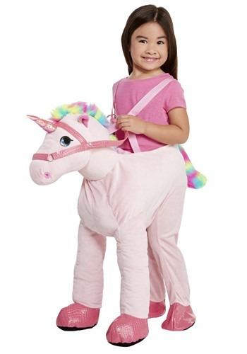 Child Ride on Pink Unicorn Costume