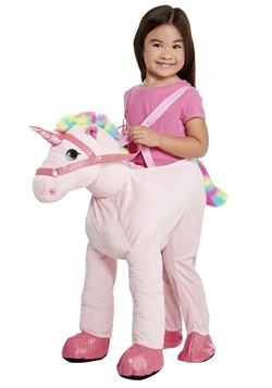 Child Ride on Pink Unicorn Costume