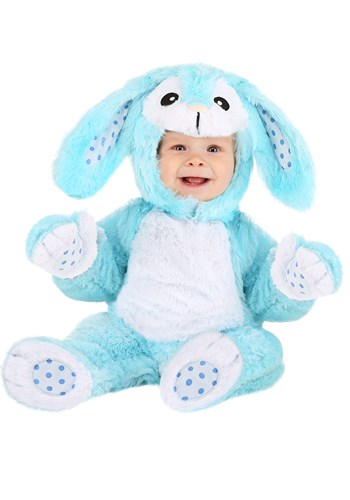 Baby Fluffy Blue Bunny Costume