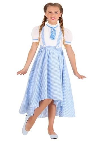 Girls Hi-Lo Gingham Dress Kansas Girl Costume