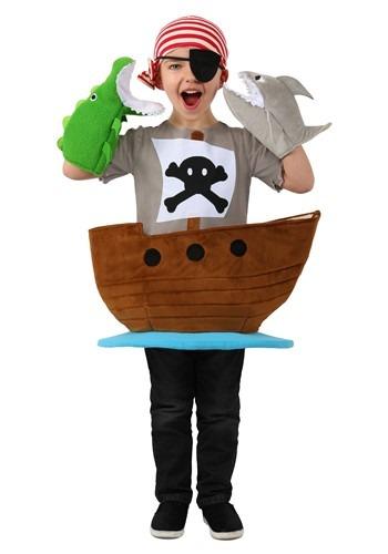 Kids Candy Catcher Pirate Ship Costume