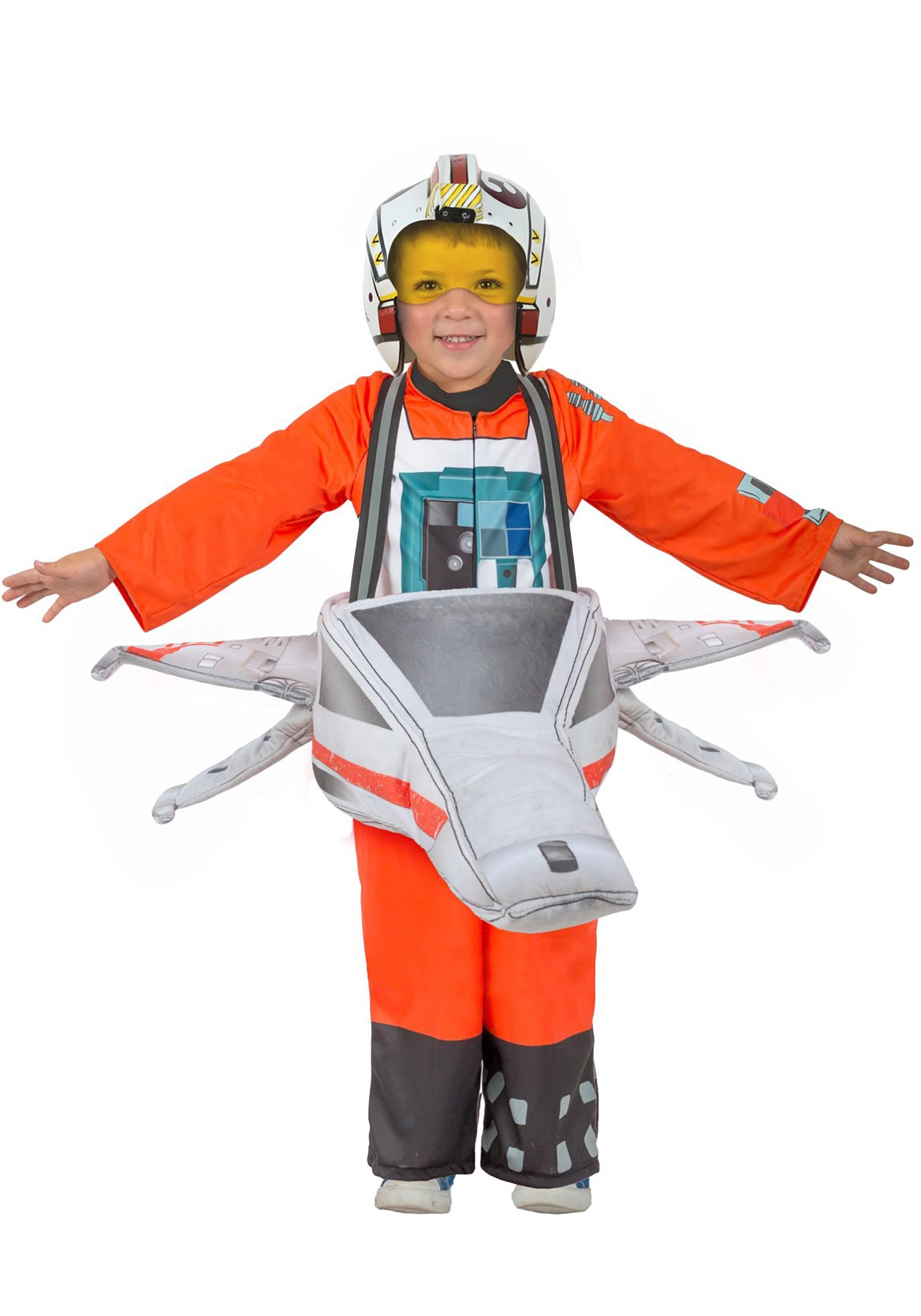 X Wing Pilot Costume Kids Star Wars Halloween Fancy Dress