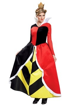Alice in Wonderland Womens Queen of Hearts Deluxe