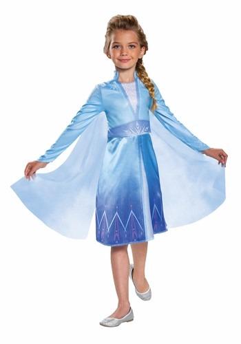 Frozen 2 Girls Elsa Classic Costume