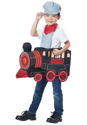 Toddler Ride in Train Costume