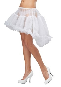 Women's White High Low Petticoat