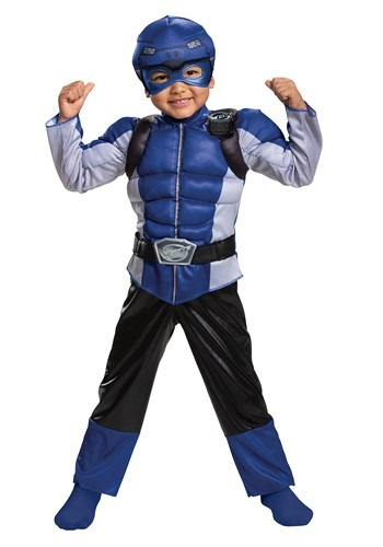 Kids Power Rangers Beast Morphers Blue Ranger Costume